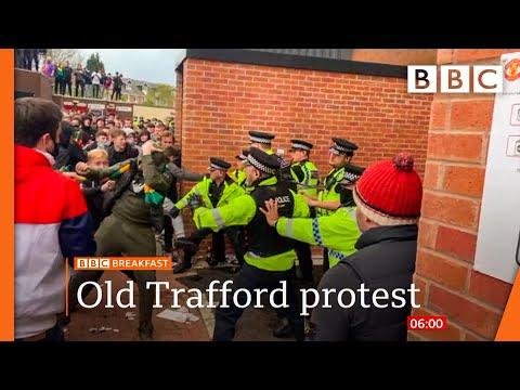 Manchester United v Liverpool game postponed after fan protest  @BBC News live 🔴 BBC