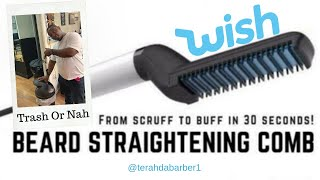 Beard Straightening Comb From Wish.
