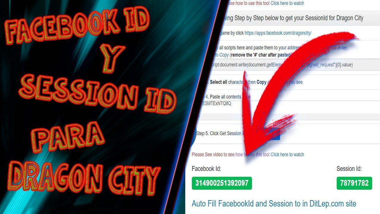 Nuevo Método Para Saber Tu Facebook Id Y Session Id [DRAGON CITY HACK]