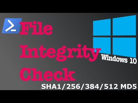 File Checksum & Integrity Check On Windows 10 - File Security [Hash SHA-1/256/384/512/MD5]