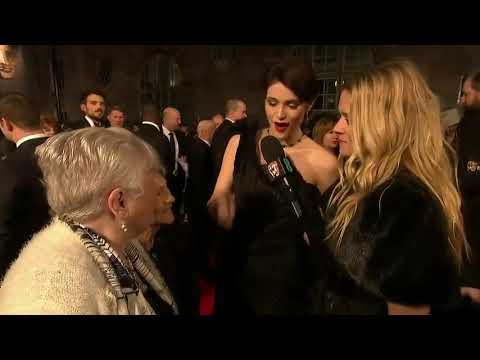#TimesUp Gemma Arterton with Eileen Pullen & Gwen Davis who helped achieve the Equal Pay Act #baftas
