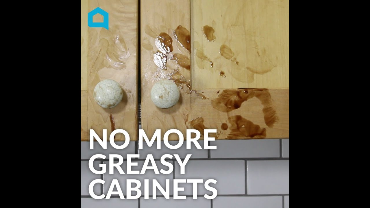 best way to remove grease from kitchen cabinets island with oven how clean greasy in under a minute youtube