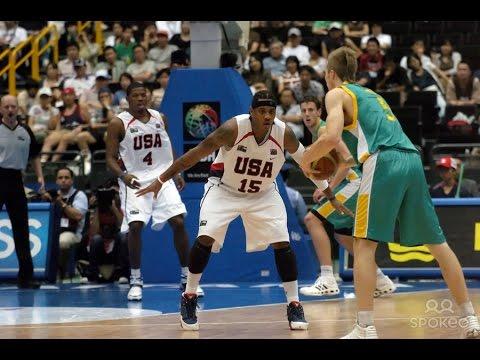 USA vs Australia 2006 FIBA Basketball World Championship Final 16 Round FULL GAME English