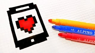 Handmade Pixel Art - How To Draw an Iphone #pixelart