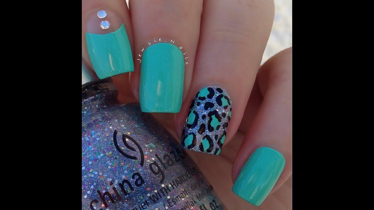 easy leopard print nail art tutorial