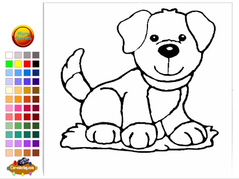 Doggy Coloring Pages For Kids