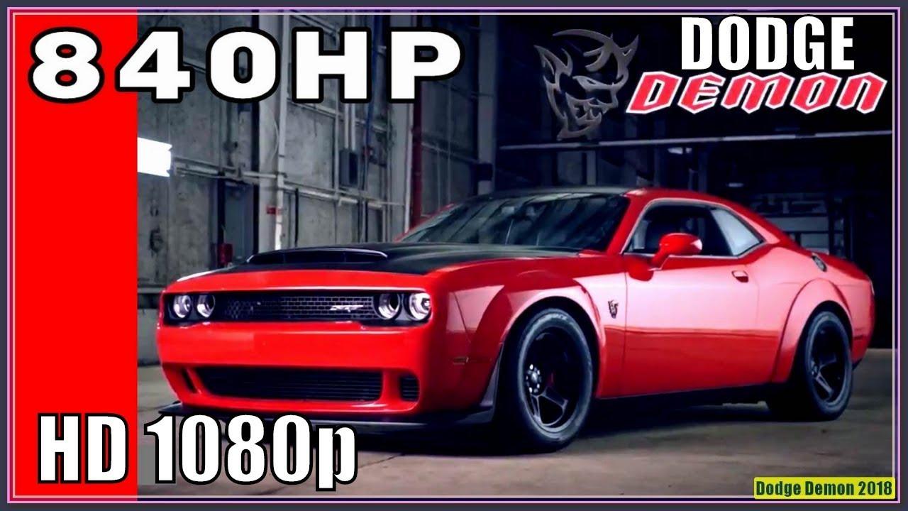 Dodge Demon 2018 New Challenger Srt 840 Horses For 86k Need We Say More