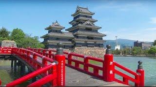 新緑の季節、信州 松本城は五月晴れに薫風がかおり、城下町をたづね歩く...