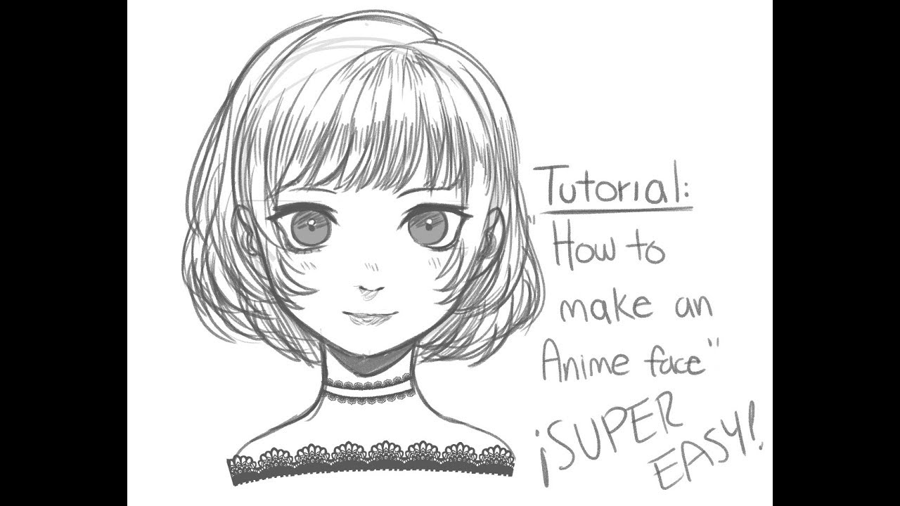 How to draw anime faces (easy) - YouTube