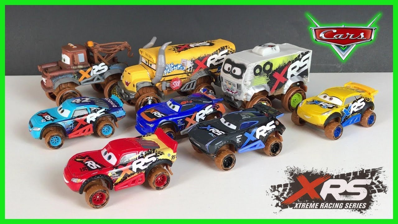 Disney Cars Xrs Racers Mud Racers Lightning Mcqueen Youtube