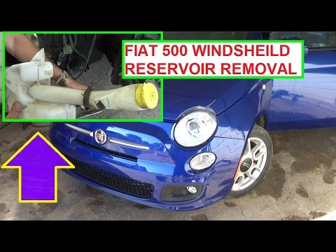 windshield washer reservoir replacement on fiat 500 2008. Black Bedroom Furniture Sets. Home Design Ideas