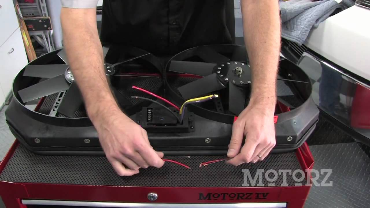 flex a lite f 150 electric fan install on motorz