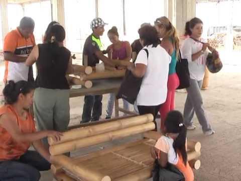 La red internacional del bamb inbar capacita en - Muebles de bambu ...
