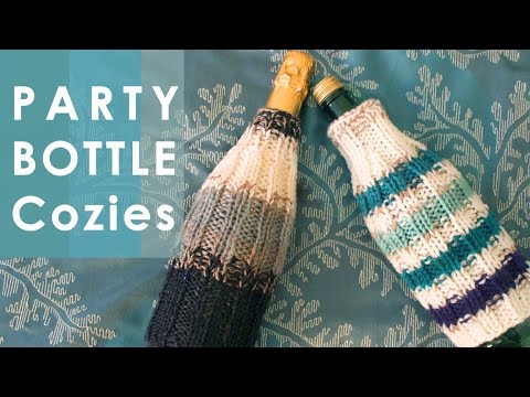 How To Knit Bottle Cozies Easy For Beginning Knitters Youtube