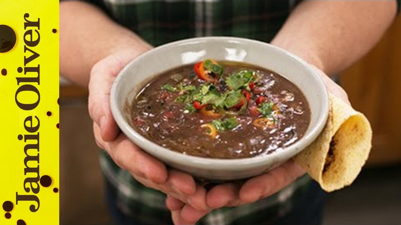 Healthy Black Bean Soup | Jamie Oliver