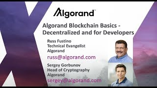 Algorand Blockchain Basics | Decentralized for Developers