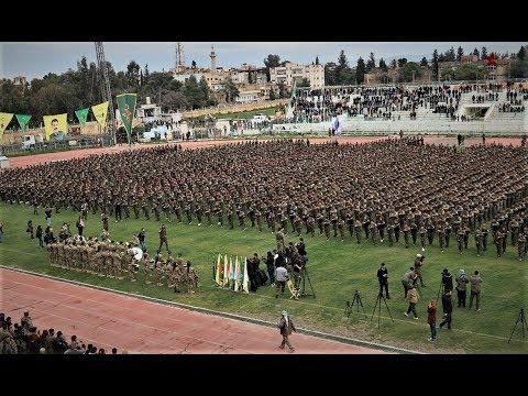 Şervanên YPJ'ê û YPG'ê coşa Serkeftinê bi gelê Qamişlo re pîroz kirin
