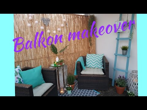 balkon makeover balkon umgestalten diy balkon versch nern youtube. Black Bedroom Furniture Sets. Home Design Ideas