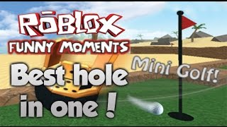 CRAZIEST HOLE IN ONE! Roblox Funny Moments!