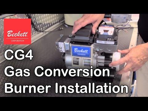 CG4 Gas Conversion Burner Installation