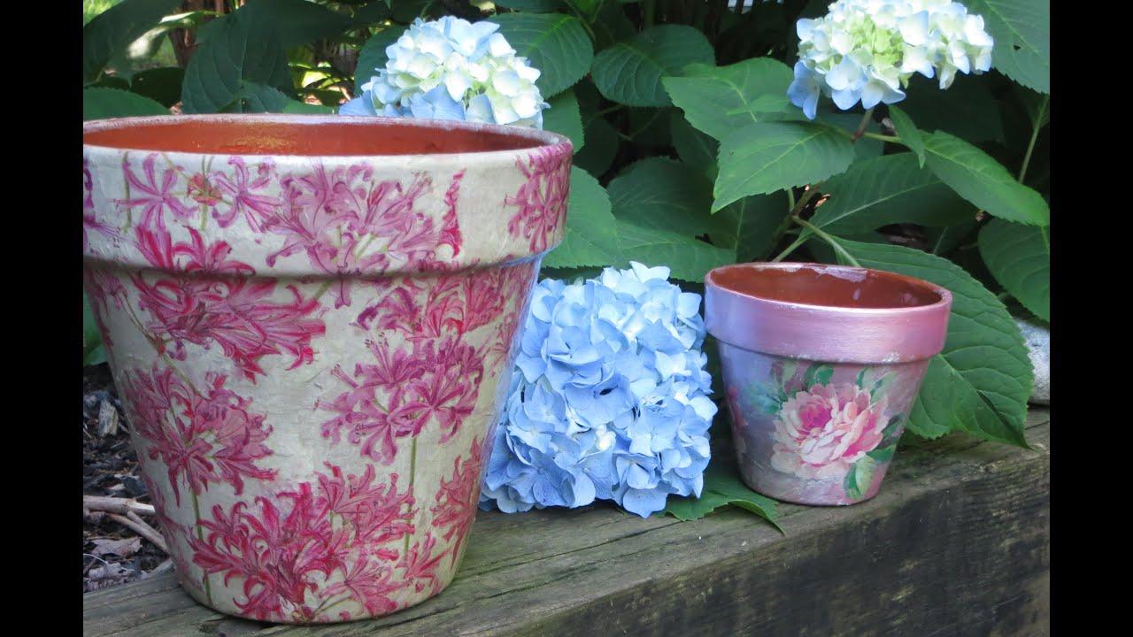 Large Plastic Terracotta Plant Pots