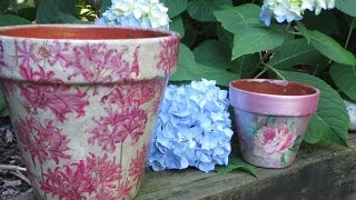 How to Decoupage and Weather proof a Clay Pot