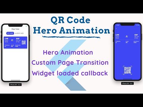 Hero Animation QR Code   TRANSITIONS   FLUTTER UI