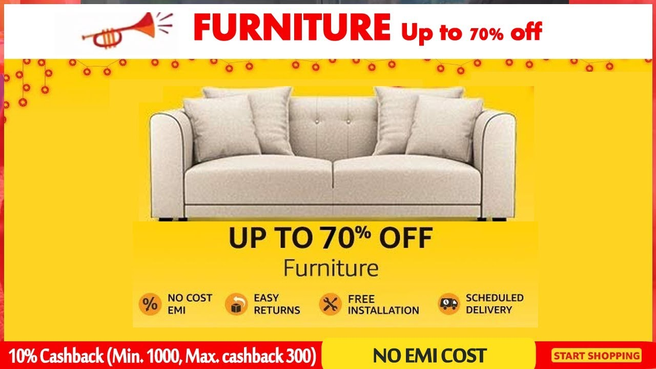 Amazon Sofa Sale Furniture Up To 60 Off Amazon In Great Indian Festival Diwali Sale 2018