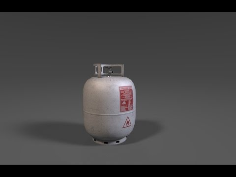 Texturing gas cylinder 3ds max - Substance painter tutorial