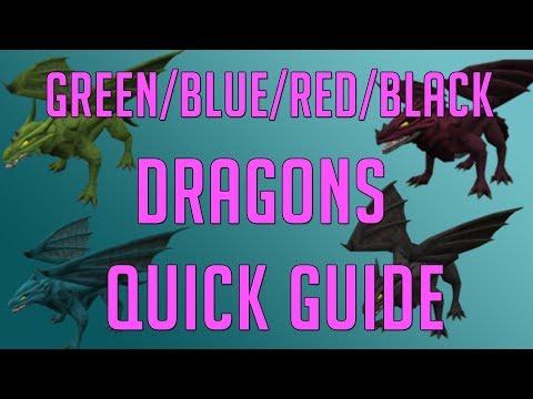 Runescape 3 - Green, Blue, Red & Black Dragon Quick Guide 2018