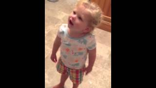 Little girl argues with dad over ipad