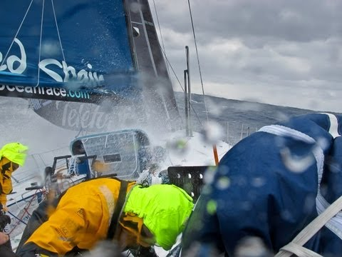 Telefonica Big Wave Crashes | Volvo Ocean Race 2011-12