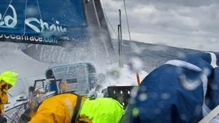 Telefonica Big Wave Crashes - Volvo Ocean Race 2011-12