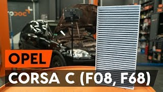 Cabine filter installeren OPEL CORSA: videohandleidingen