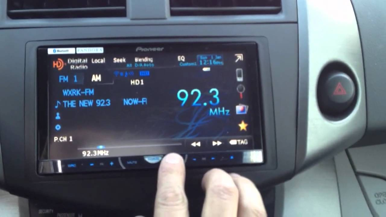2008 Toyota Rav4 Interior >> Toyota RAV4 2010 with pioneer AVH-P4400BH - YouTube