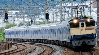 【4K60P】都営三田線6500形甲種輸送 島本〜山崎駅間通過シーン(2021年7月3日)
