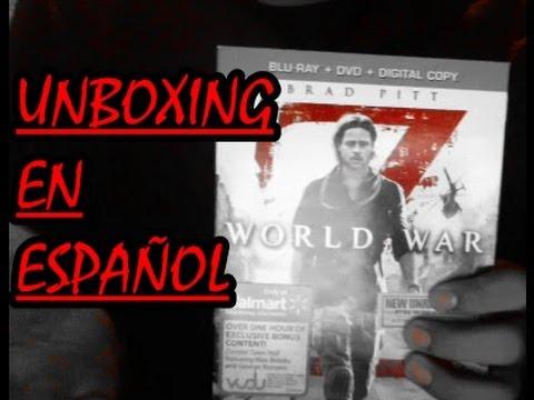 World War Z (guerra mundial z) blu ray unboxing/review