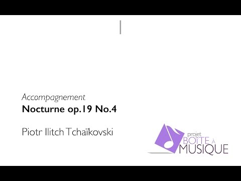 P. I. Tchaikovsky - Nocturne op. 19 no.4 for cello and piano (accompaniment)