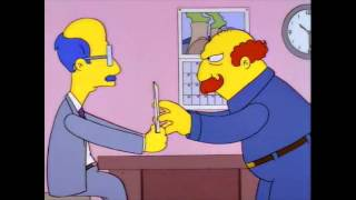 Mr Burns sends a parcel to Pete Porter in Pasadena