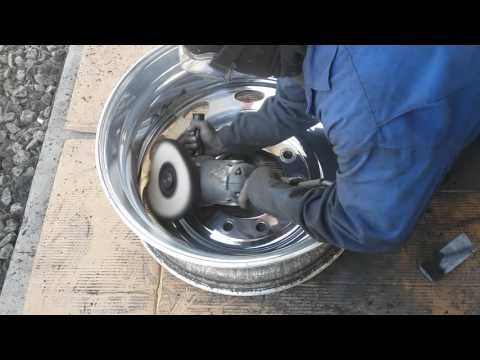 DIY Tony Metal Art how to polish aluminum wheels/ finish stage on inside wheel pt. 8