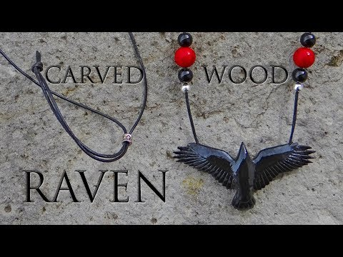 Carving A Wooden Raven Pendant