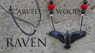 Carving a Wooden Raven Pendant