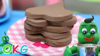 Green Baby Make Traditional Chocolate Recipe Play Doh & Clay Stop Motion Cartoons For Kids