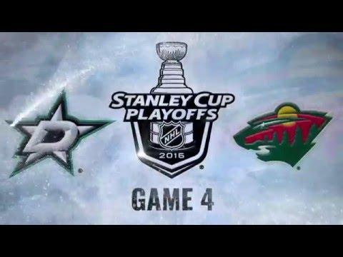 Dallas Stars vs Minnesota Wild. Game #4. PlayOffs NHL 2016