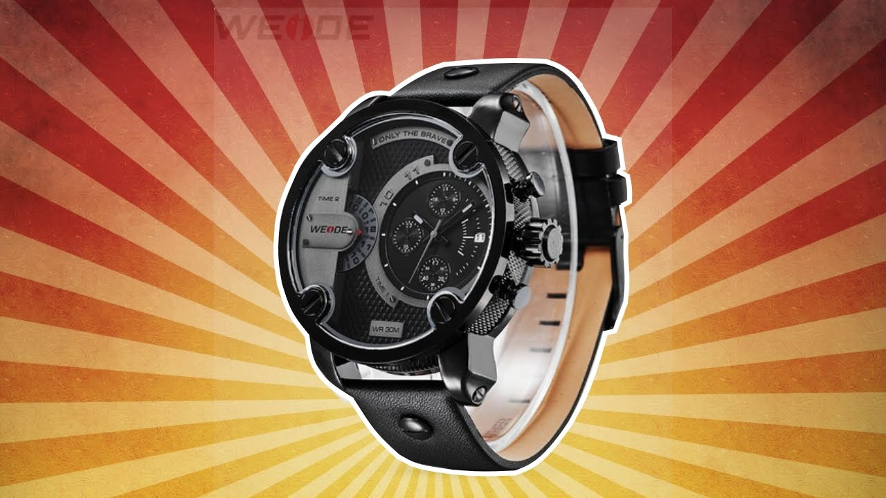 Бомбовые часы Weide с AliExpress - YouTube