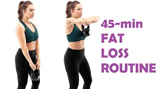 How to lose weight fast with this 45 minute full body workout | loss tips