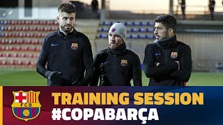 Last training session before the cup game against Espanyol