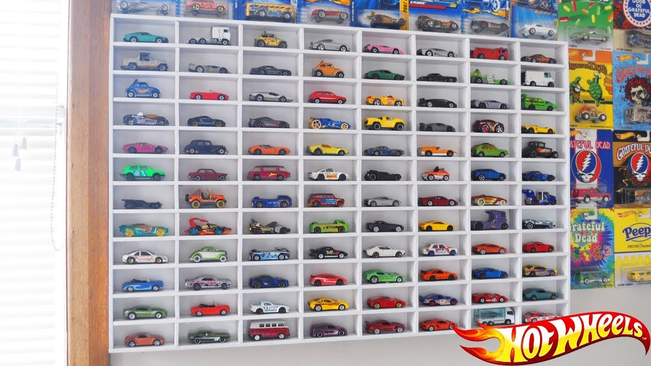 My Hot Wheels Car Display Case Loose Car Collection Youtube