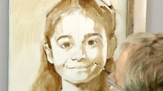 Learn how to start a portrait in oil. Ben Lustenhouwer