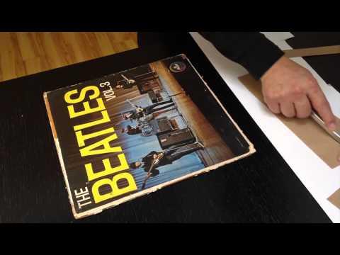Restaurar una portada de un vinilo